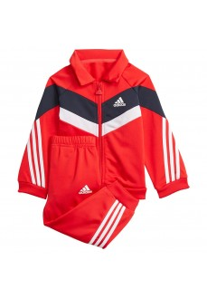 Adidas Future Icons Shiny Kids' Tracksuit Red H28830 | Kid's Tracksuits | scorer.es