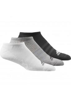 Calcetines Adidas tobilleros Pack 3 Negro/Gris/Blanco