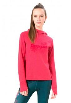 Sudadera Desigual con capucha rosa