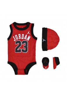 Conjunto Nike Jordan Bodysuit + Gorro Rojo LJ0208-R78   scorer.es