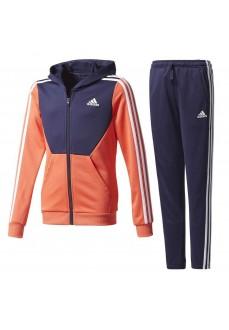 Chándal Adidas con capucha Naranja/Azul