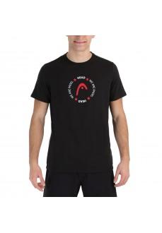 Head Button Men's T-shirt 811651 BK | Paddle tennis clothing | scorer.es