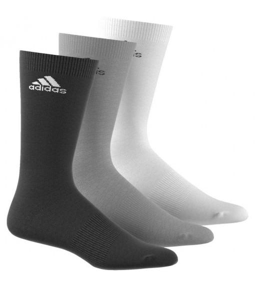 Calcetines Adidas altos Pack 3 Negro/Gris/Blanco | scorer.es