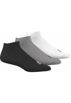Calcetines bajos Adidas Negro/Gris/Blanc Pack 3