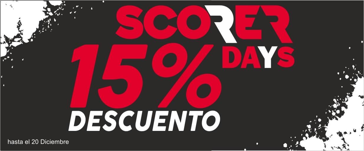 SCORERDAYS 15% Descuento